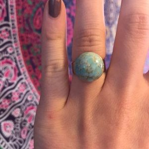 Round turquoise statement ring